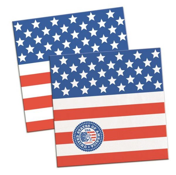 USA Party Napkins Flag Design 25cm 20s United States of America